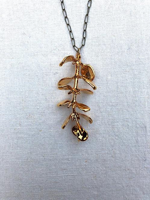 Mistletoe Gold Necklace