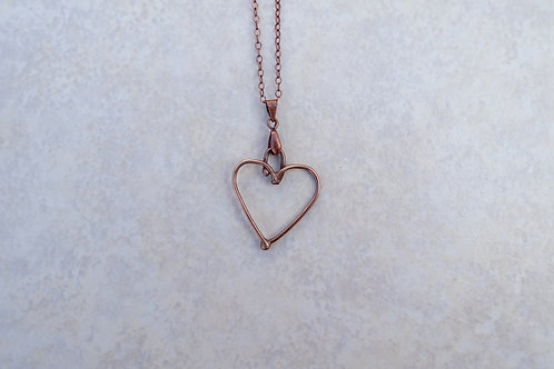 Fused Small Heart Necklace