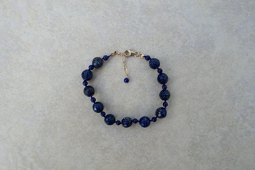 Faceted Lapis Bracelet
