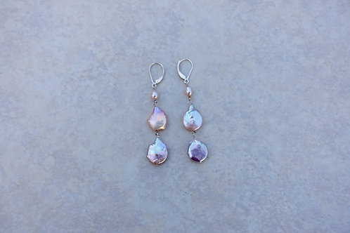 Pink Double Coin Pearls