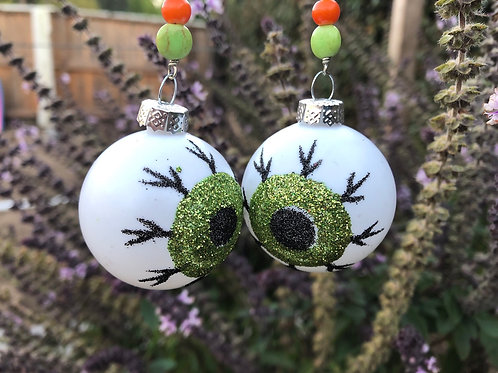 Green Eyeball Earrings