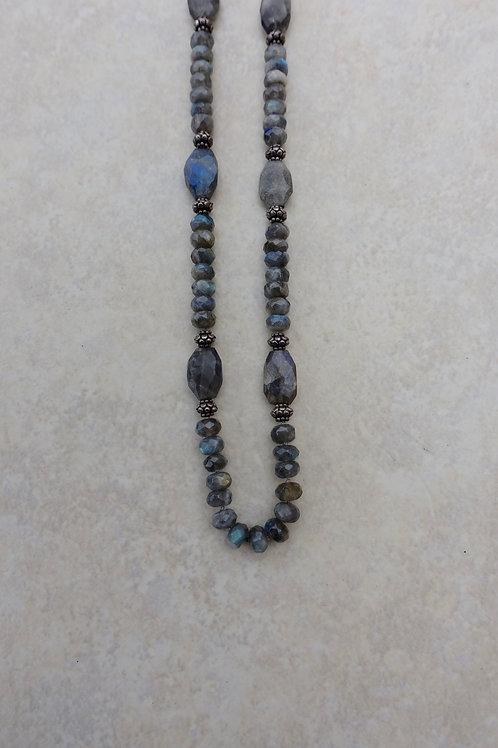 Faceted Labordorite Long Necklace