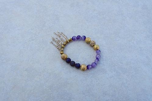 Amethyst Stretchy Bracelet