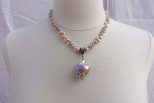 Baroque Pink and Tiny Wibble Wobble Pearls