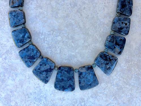 Blue Labdorite Collar Necklace