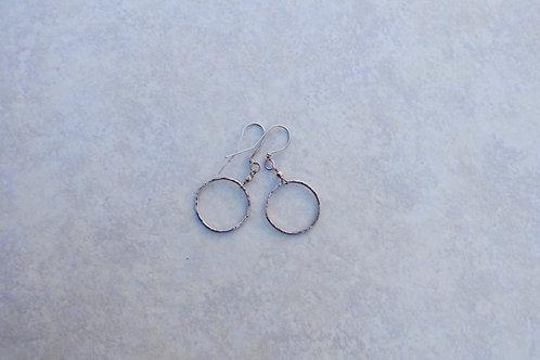 Fine Silver Large Hook Earrings