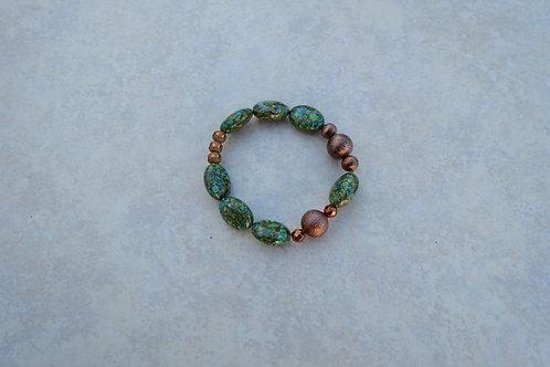 Green Mosiac Turquoise Bracelet