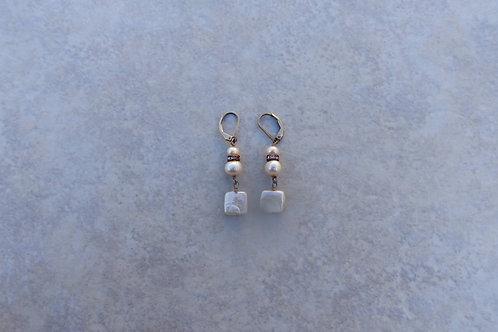 Square Pearls Earrings