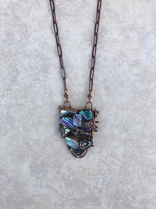 Woven Abalone and Fused Bronze