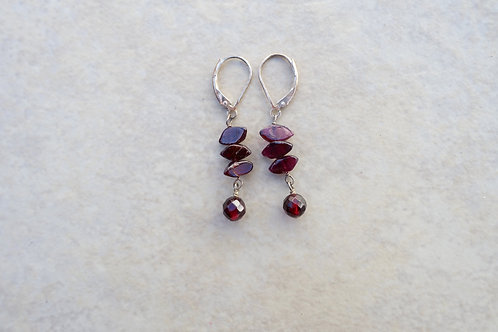 Garnet Faceted and Eye Shaped