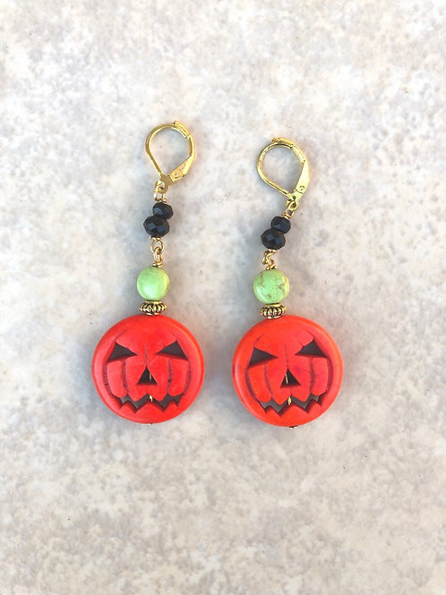 Jack O'Lantern Double Earrings