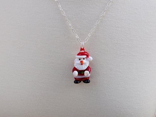 Santa Glass Pendant