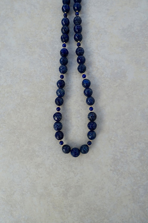Faceted Lapis Necklace
