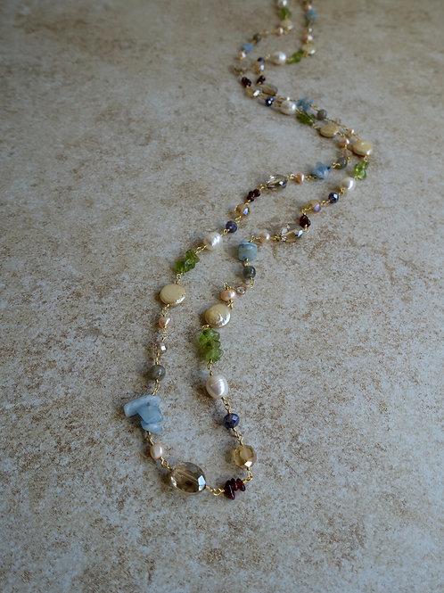 Gemstones: Aquamarine, Citrine, Peridot, Garnet, Pearls