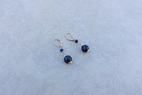 Faceted Lapis Earrings