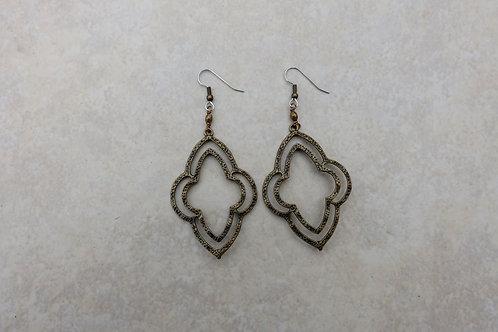 Scalloped Double Open Earrings
