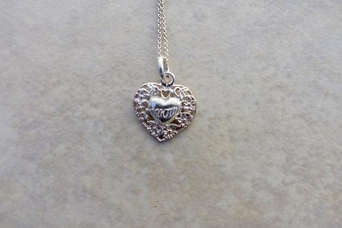 Mom's Sterling Silver Heart