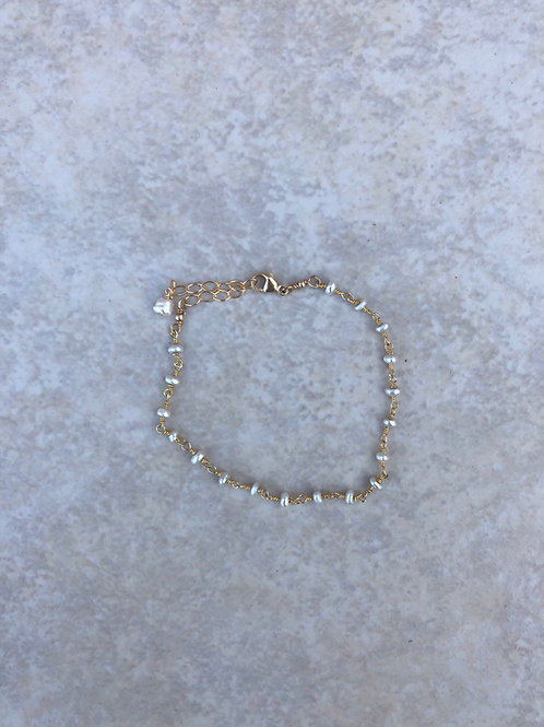 Teeny Tiny Pearl Bracelet