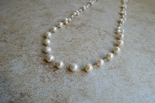 White Large Fresh Water Pearls