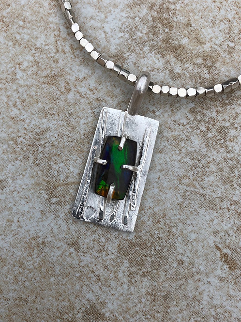 Ammolite and Sterling Silver