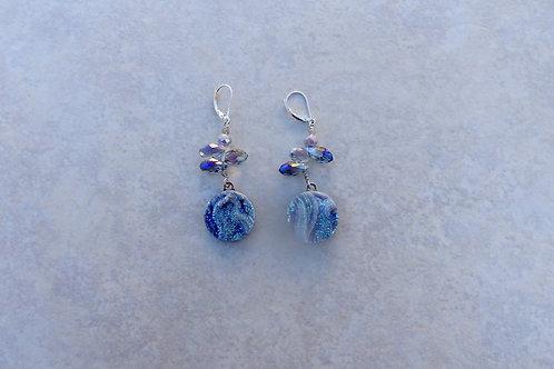 Drusy and Mystic Moonstone Earrings
