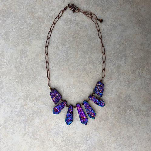 Dragon Stone Titanium Purple Collar Necklace
