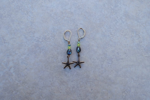 Starfish and Abalone Earring