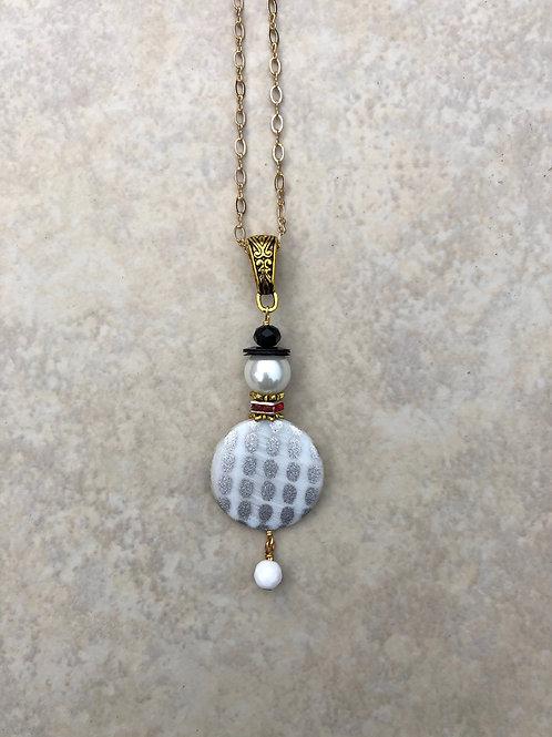 Flat Santa Necklace