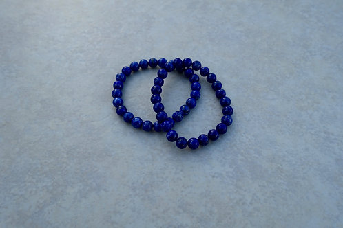 Lapis 6mm Bracelet