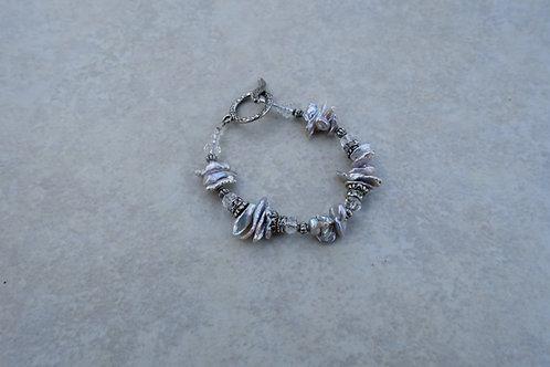 Gray Kishi Pearl Bracelet