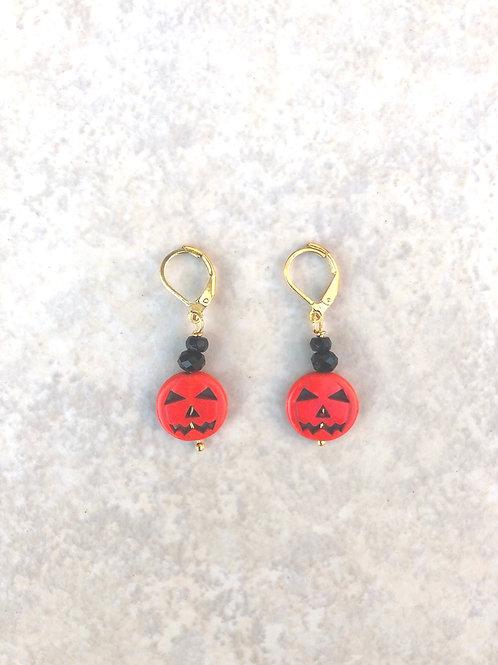 Mini Jack O'Lantern Earrings