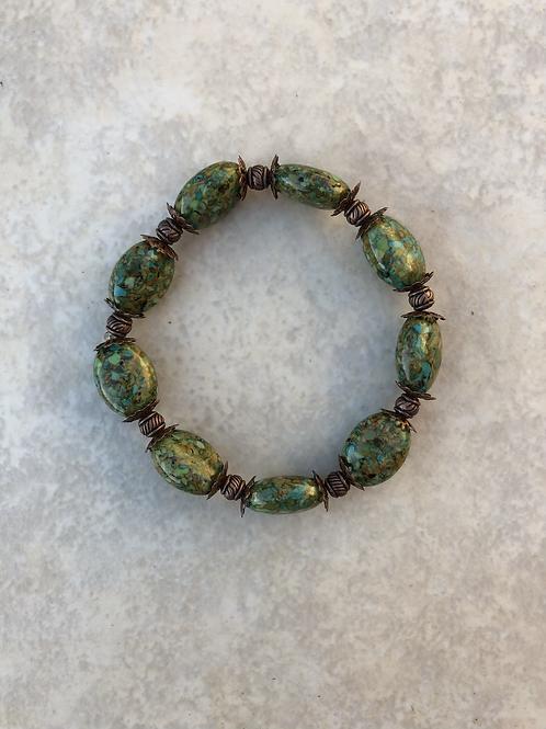 Mosaic and Copper Bracelet