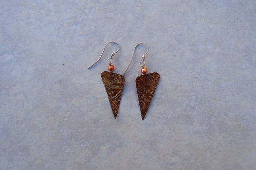 Triangle Copper and Pearls