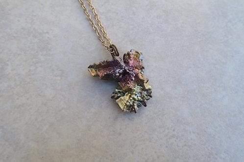 Bismuth Pink Necklace