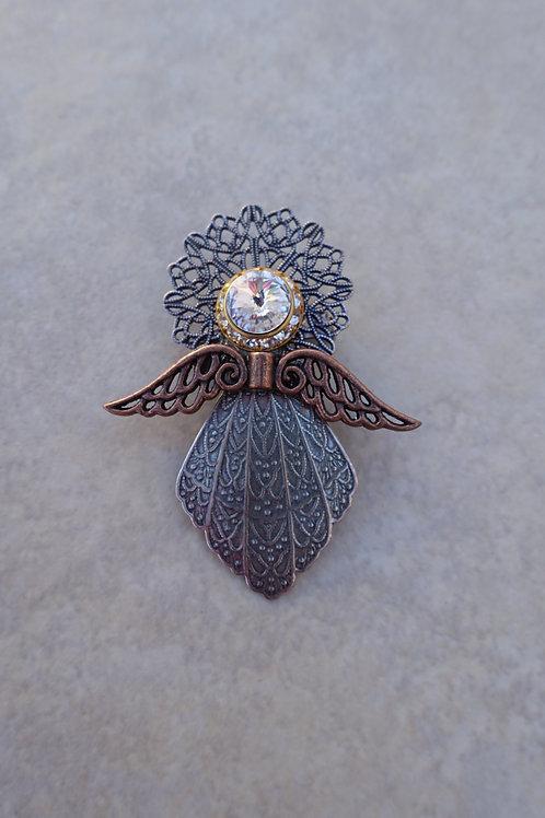 Angel Large Mixed Metals Pin