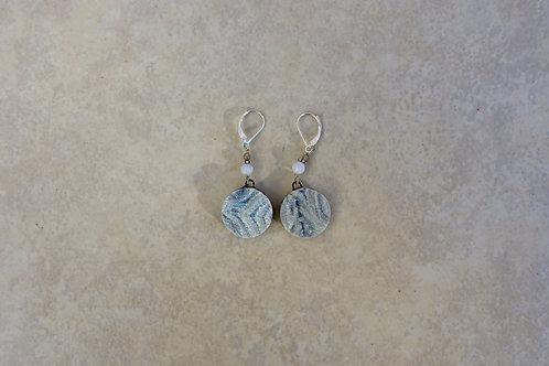 Drusy Coin Earrings