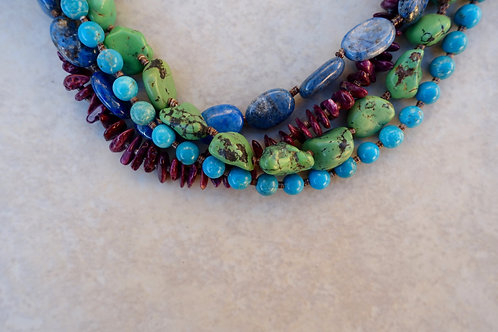 Vintage Southwest 4 Strand Necklace