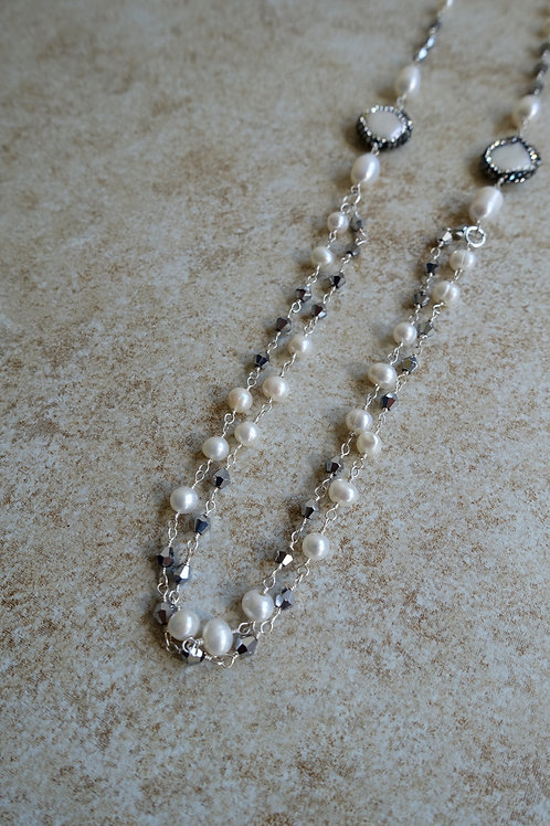 Doubled White Freshwater Pearls