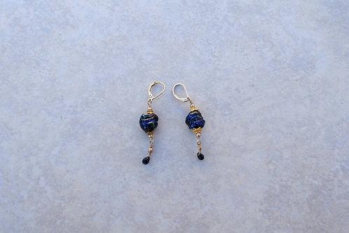 Lampwork Blue-Green Earromgs