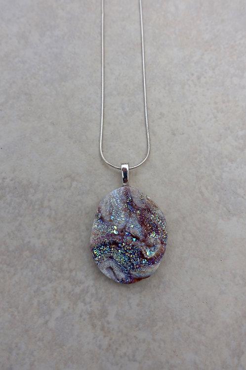 Aurora Drusy Pendant