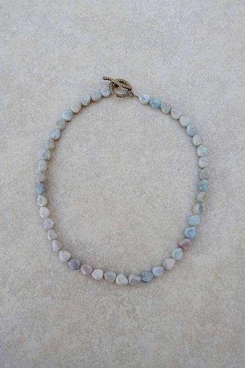 Aquamarine Teardrop Necklace