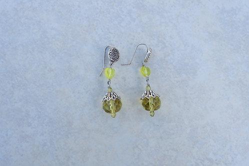 Chartreuse Crystal Earrings