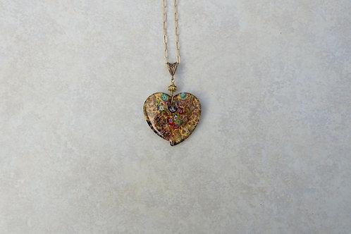 Gold Milifori Heart Necklace