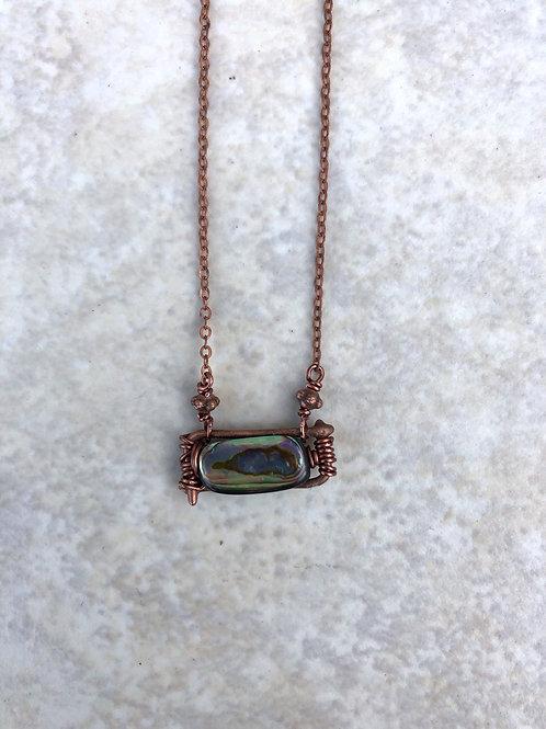 Woven Abalone of Fused Bronze Mini