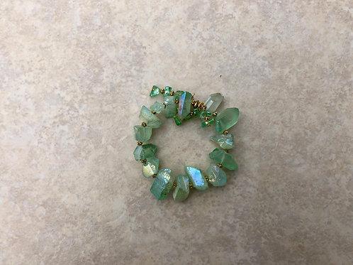 Lime Green Quartz Bracelet