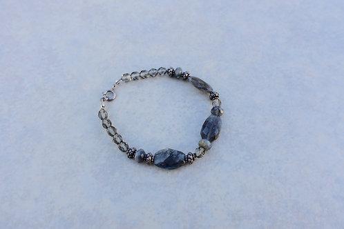 Faceted Gray Labordorite Bracelet