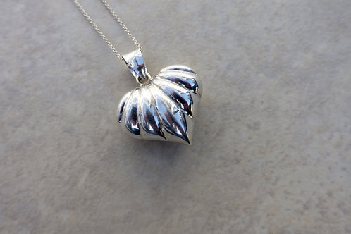 Puffy Sterling Silver Heart