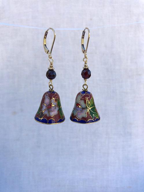 Cloisonne Bell Earrings