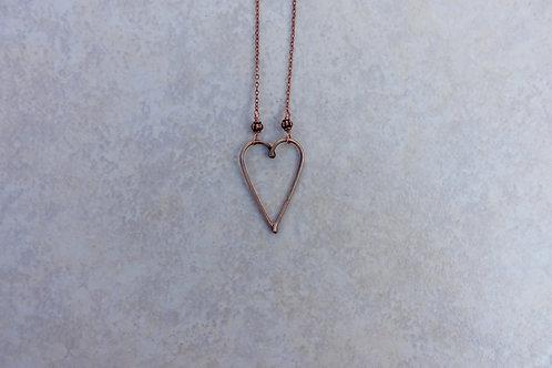 Bronze Heart Necklace Medium