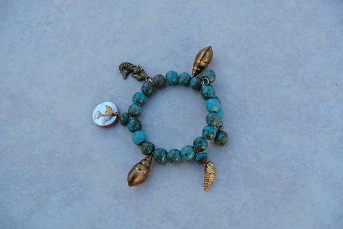 Sea Charm Turquoise Bracelet